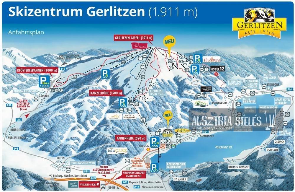 Gerlitzen sítérkép