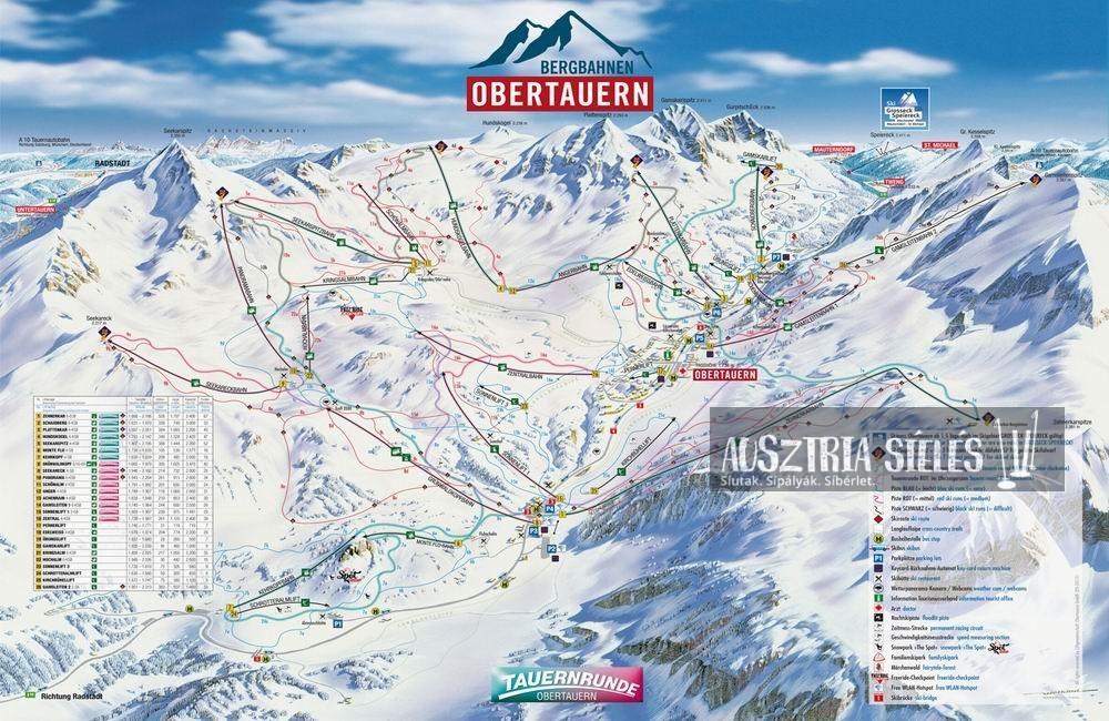 Obertauern sítérkép