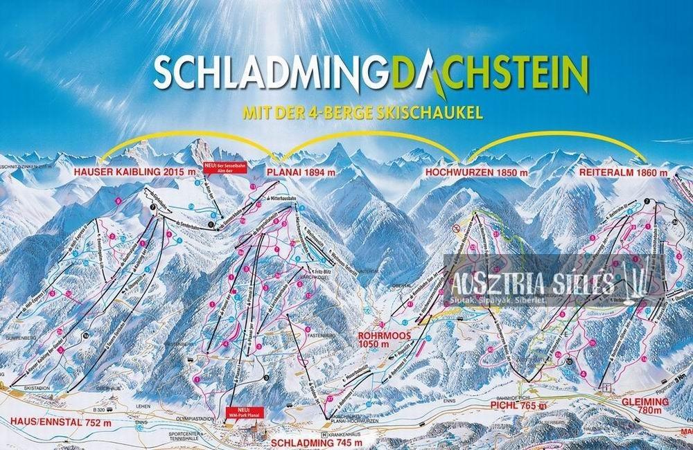 Schladming-Dachstein sítérkép