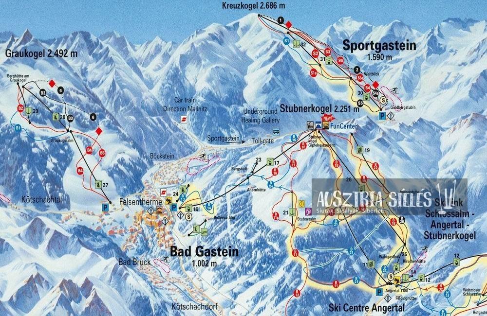 Sportgastein sítérkép